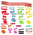 Collection of ribbons and banners vector image