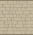 cracked brick wall background in hazel wood brown vector image