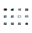 Credit card icons on white background vector image vector image