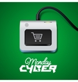 Cyber Monday button on keyboard vector image vector image