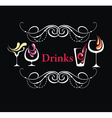 Different drinks vector image