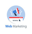 digital marketing online campaign vector image vector image