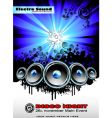 disco music event background vector image vector image
