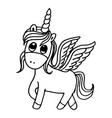 doodle style hand drawn unicorn isolated on vector image vector image