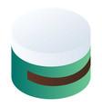 face cream box icon isometric style vector image