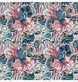 Fantasy flowers seamless paisley pattern Floral vector image vector image