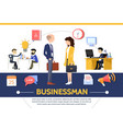 flat business template vector image vector image