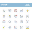 flat line icons filled design-design vector image vector image