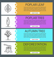 forestry web banner templates set vector image