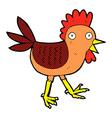 funny comic cartoon chicken vector image