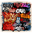 graffiti street art background vector image