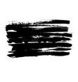 grunge ink brush stroke freehand black brush vector image