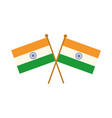 happy independence day india crossed flags