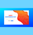 happy independence day landing page vector image vector image