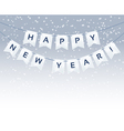 Happy New Year words vector image vector image
