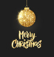 holiday background hanging christmas golden ball vector image