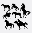 Horse pet animal silhouette vector image vector image
