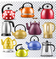 kettle teakettle or teapot to drink tea on vector image vector image