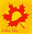 labor day in canada construction helmet maple vector image vector image