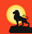 lion on a rock vector image