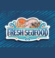 logo for fresh seafood vector image