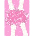 Love you dearly Greeting card vector image