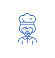 male cook line icon concept male cook flat vector image vector image