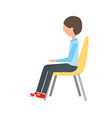 man sitting on chair vector image