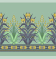 modern border with floral art deco elements vector image