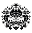 Norwegian folk art Bunad black pattern vector image vector image
