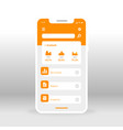 orange economy ui ux gui screen for mobile apps vector image