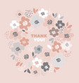 pale pink geometric flower pattern vector image