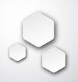 Paper white hexagonal notes vector image vector image