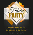 party black and gold flyer presentation vector image