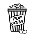 pop corn vector image vector image
