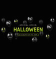 sale banner for halloween holiday vector image