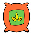 Seeds bag icon cartoon