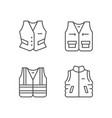 set line icons vest vector image vector image
