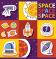 space equipment badges vector image vector image