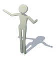 stick man welcomes icon isometric style vector image vector image