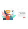 successful business banner inscription success vector image