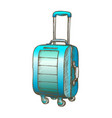 suitcase on wheels with handle color vector image vector image