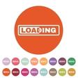 The loading icon preloader symbol Flat vector image vector image