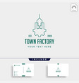 town industry logo design home factory icon vector image vector image