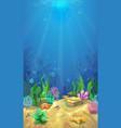underwater landscape and undersea world vector image vector image