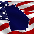 united states georgia dark blue silhouette the vector image