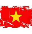 Vietnam grunge flag vector image vector image