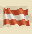 vintage flag austria vector image vector image