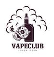 vintage vape logo vector image