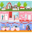 Wedding ceremony design banners Party